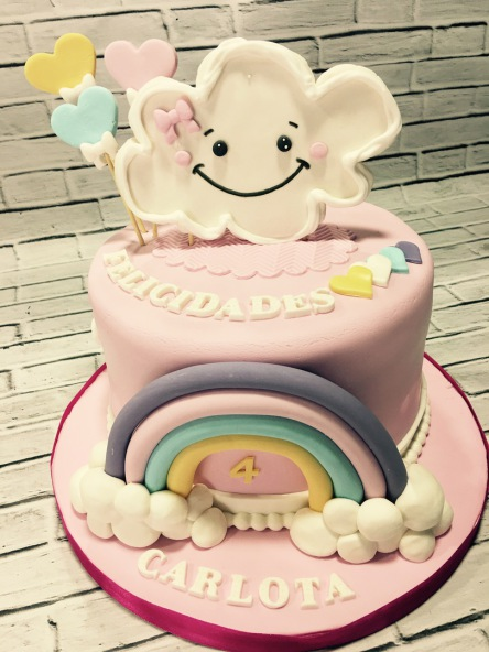 Tartas personalizadas madrid, tartas decoradas madrid, tartas fondant madrid, tarta cumpleaños, tartas infantiles, tarta nubes, tarta shopkins