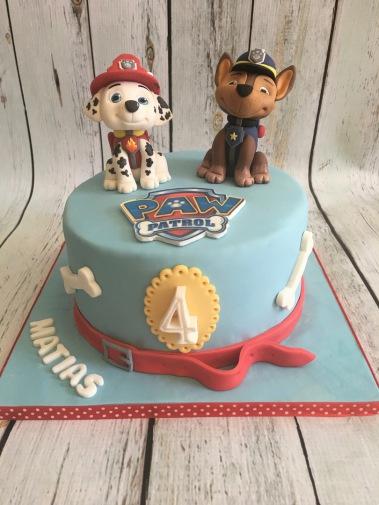 Tarta patrulla canina, tartas personalizadas madrid , tartas decoradas madrid, tartas fondant madrid
