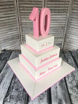 tartas para eventos, tartas personalizadas madrid, tartas decoradas madrid, tartas fondant madrid, tarta gala cancer