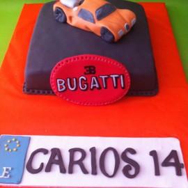 Tarta Bugatti Veyron, tartas personalizadas madrid, tartas decoradas madrid, tartas fondant madrid, tarta coche 3D, tarta cumpleaños