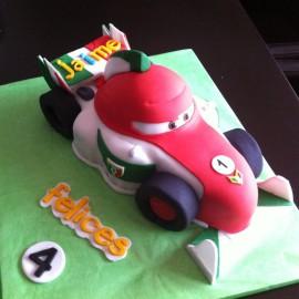 Tarta Francesco Bernoulli, tartas personalizadas madrid, tartas decoradas madrid, tartas fondant madrid, tarta coche 3D, tarta cumpleaños