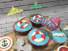 cupcakes marineros, galletas marineras
