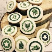 Tartas personalizadas madrid, tartas decoradas madrid, tartas fondant madrid, galletas militares