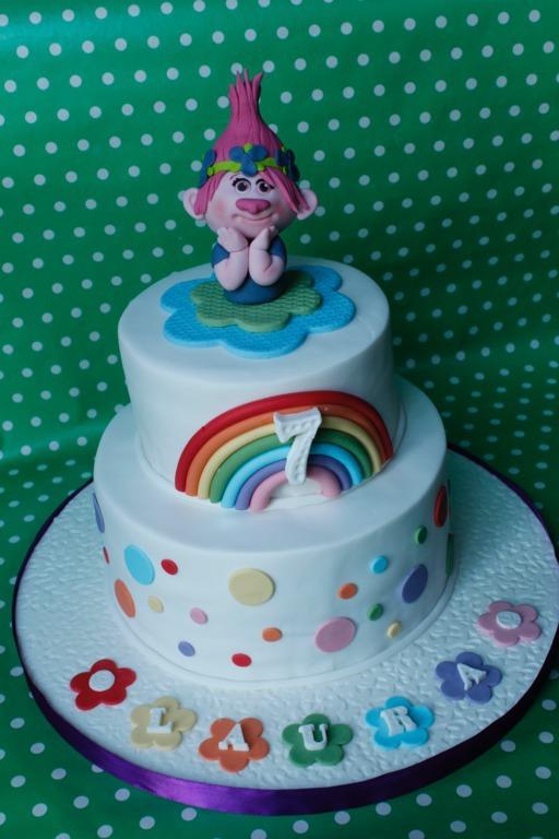 Tarta Trolls, Trolls cake, tartas personalizadas madrid, tartas decoradas madrid, tartas fondant madrid