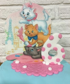 tarta aristogatos, tartas personalizadas madrid, tartas decoradas madrid, tartas fondant madrid, tartas infantiles, tarta cumpleaños, tarta disney
