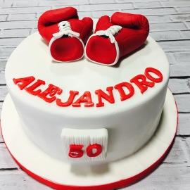 Tartas personalizadas madrid, tartas decoradas madrid, tartas fondant madrid, tarta guantes boxeo, tarta púgil, tarta cuadrilátero