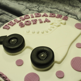 Tarta Patin de Ruedas, The Cake Project, Tartas decoradas madrid, tartas personalizadas madrid, tartas fondant madrid