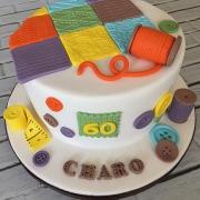 Tarta costura, Tartas personalizadas madrid, Tartas decoradas madrid, tartas fondant madrid, tarta patchwork