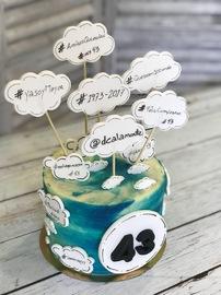 Tartas personalizadas madrid, tartas decoradas madrid, tartas fondant madrid, tarta hashtag, tarta nubes