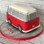 tarta furgoneta Volkswagen 3D, tartas personalizadas madrid, taras fondant madrid, tartas decoradas madrid
