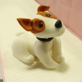 perro modelado fondant