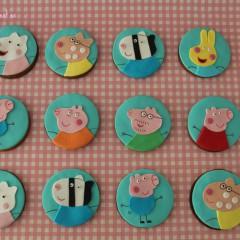 Galletas Peppa Pig, Tartas personalizadas madrid, Tartas decoradas madrid, tartas fondant madrid, thecakeproject, Reposteria Creativa, tartas infantiles, tartas cumpleaños,