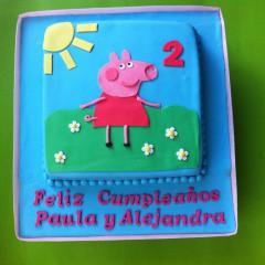 The Cake Project ,Tarta Peppa Pig, Tartas personalizadas madrid, Tartas decoradas madrid, tartas fondant madrid, thecakeproject, Reposteria Creativa, tartas infantiles, tartas cumpleaños,