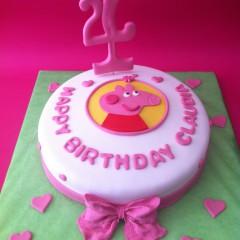 The Cake Project, Tarta Peppa Pig, Tartas personalizadas madrid, Tartas decoradas madrid, tartas fondant madrid, thecakeproject, Reposteria Creativa, tartas infantiles, tartas cumpleaños,