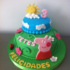 The Cake Project , Tarta Peppa Pig,Tartas personalizadas madrid, Tartas decoradas madrid, tartas fondant madrid, thecakeproject, Reposteria Creativa, tartas infantiles, tartas cumpleaños,