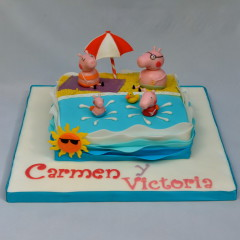 The Cake Project , Tarta Peppa Pig, Tartas personalizadas madrid, Tartas decoradas madrid, tartas fondant madrid, thecakeproject, Reposteria Creativa, tartas infantiles, tartas cumpleaños,