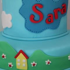 tarta peppa pig, Tartas personalizadas madrid, Tartas decoradas madrid, tartas fondant madrid, thecakeproject, Reposteria Creativa, tartas infantiles, tartas cumpleaños,
