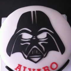 Tartas personalizadas madrid, tartas fondant madrid, tartas decoradas madrid, Star wars cake, darth vader cake,