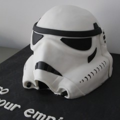 Tartas personalizadas madrid, tartas fondant madrid, tartas decoradas madrid, Star wars cake, Storm Trooper cake,