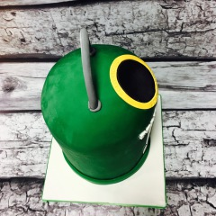 Tarta empresa, tarta logo, tarta aniversario, tarta corporativa, tarta miniglu 3D, tarta contenedor vidrio 3D
