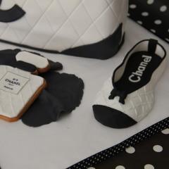 Tarta Bolso Chanel, tartas personalizadas madrid, tartas fondant