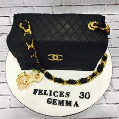 Tartas personalizadas madrid, tartas decoradas madrid, tartas fondant madrid, tartas infantiles, tartas cumpleaños, Tarta Bolso Chanel 3D, TheCakeProject, Repostería Creativa