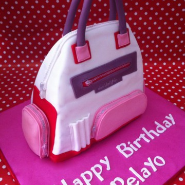 Tarta Bolso 3D,  Tartas personalizadas madrid, tartas decoradas madrid, tartas fondant madrid,