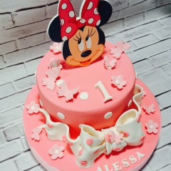 Tarta Minnie Mouse, Tartas personalizadas madrid, Tartas decoradas madrid, tartas fondant madrid, thecakeproject, Reposteria Creativa, tartas infantiles, tartas cumpleaños, tarta disney